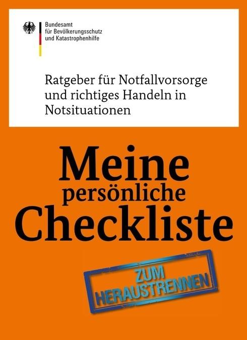 Checkliste Notfallvorsorge