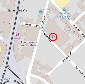 Externer Link: Karte Anfahrt Parkhaus