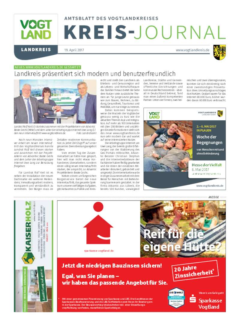 Dokument anzeigen: Kreis-Journal Vogtland April 2017