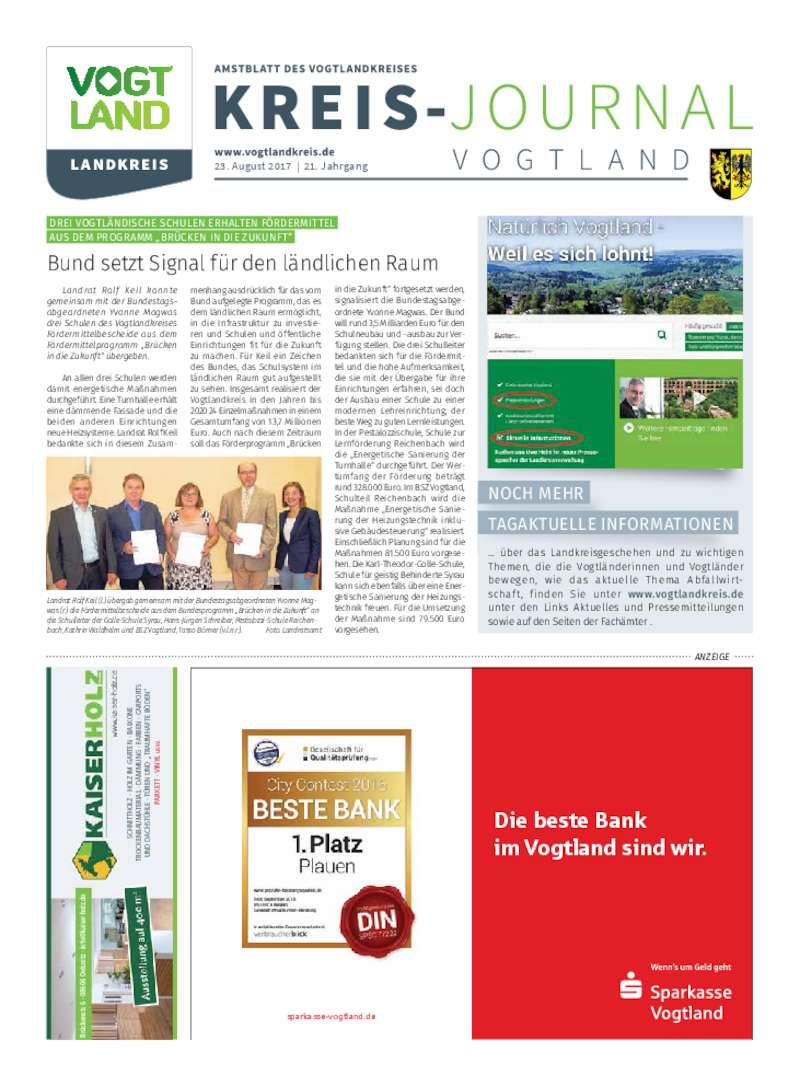 Dokument anzeigen: Kreis-Journal Vogtland August 2017