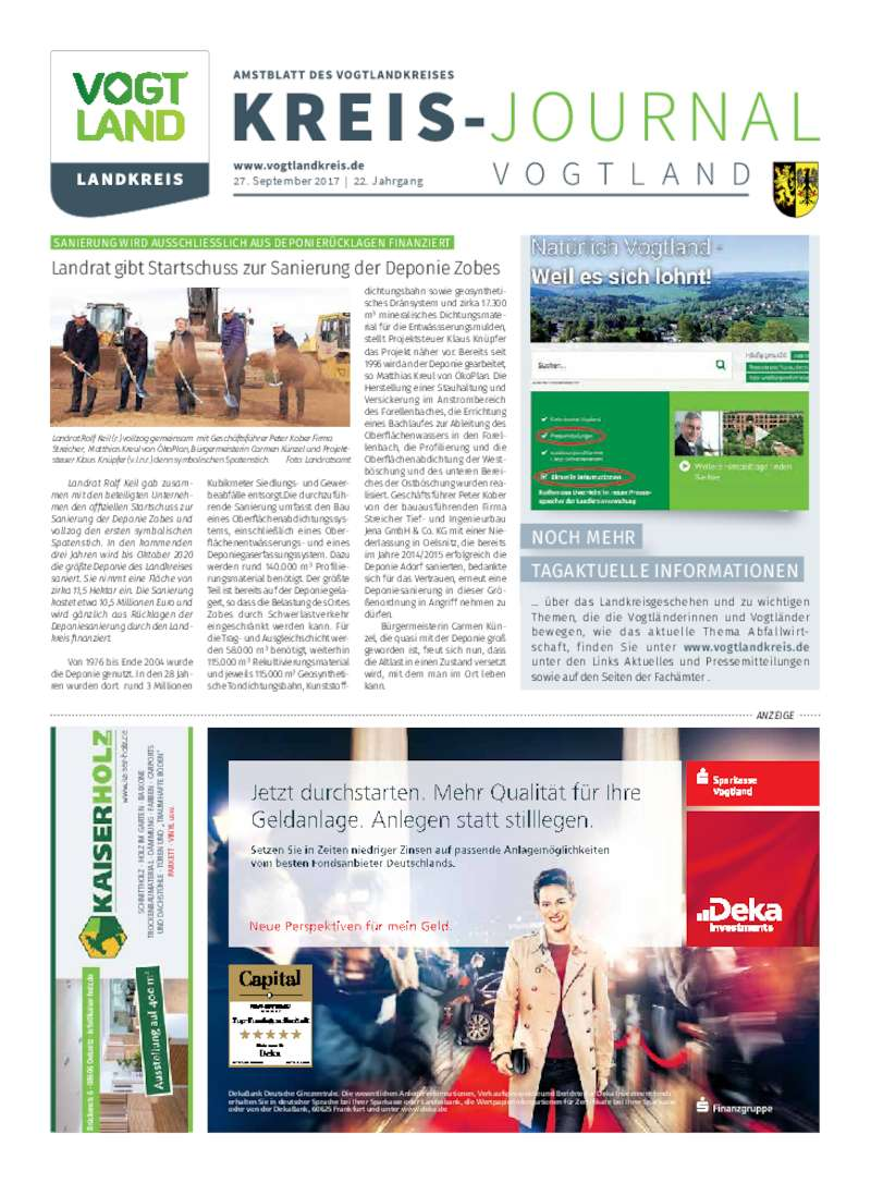 Dokument anzeigen: Kreis-Journal Vogtland September 2017