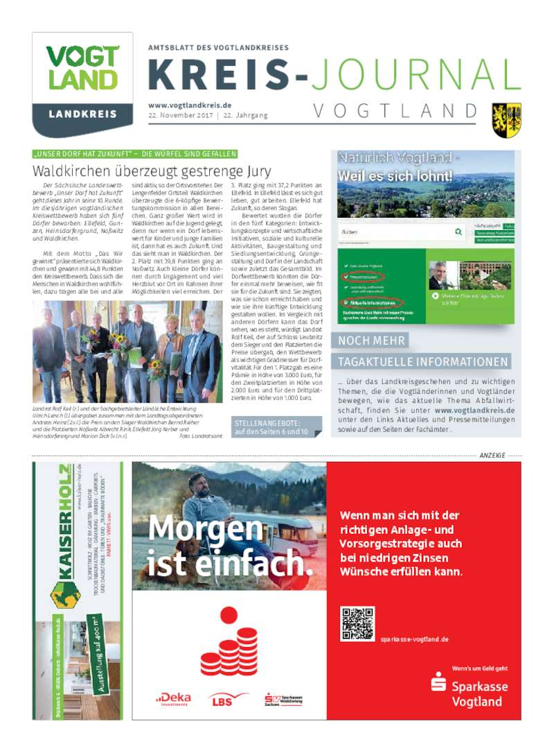 Dokument anzeigen: Kreis-Journal Vogtland November 2017