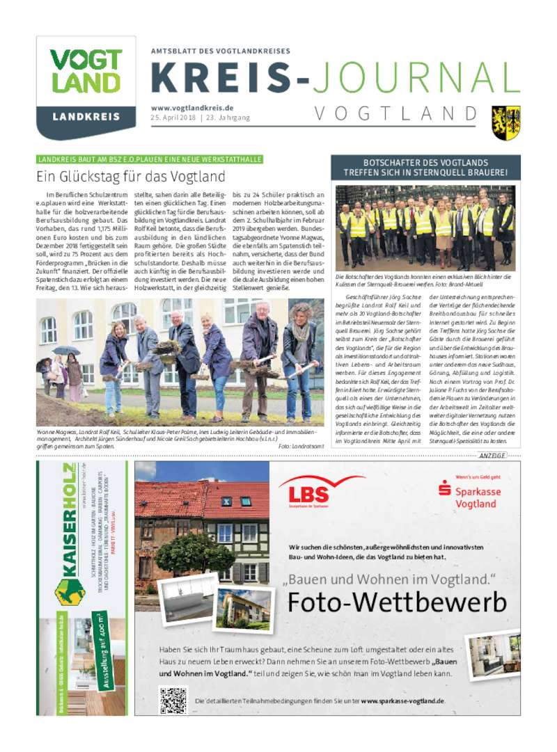 Dokument anzeigen: Kreis-Journal Vogtland April 2018